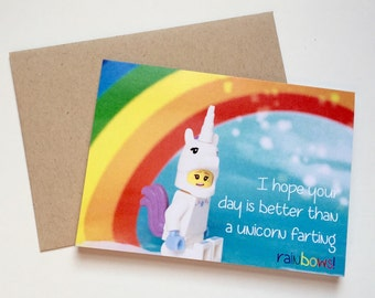 Unicorn & Rainbow Card