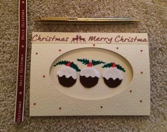 Christmas pudding card, CHRISTMAS CARD, pudding card, christmas pudding