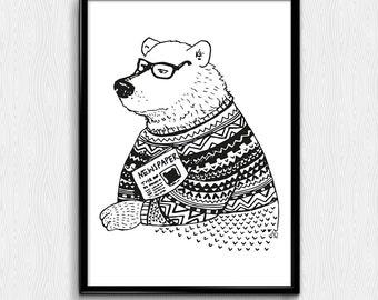 Vintage Bear - poster