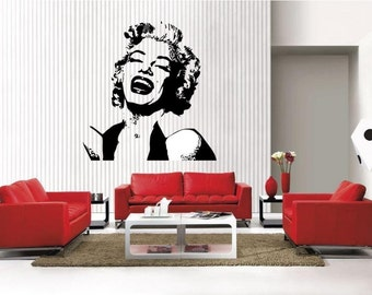 MARILYN MONROE face removable Vinyl Wall Decal Home Décor Large