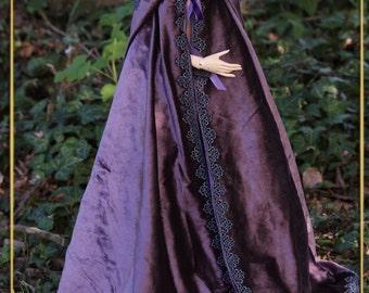 SD - Purple velvet purple velvet cloak cape SD