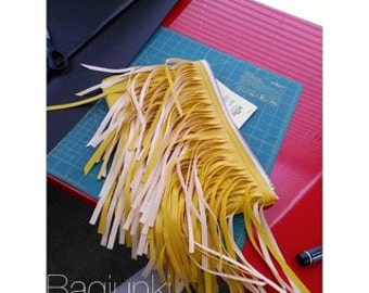 Lemondrop Verge Fringe Clutch