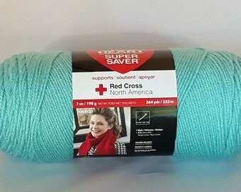 Red Heart Super Saver Yarn ARUBA SEA 7 oz Worsted Weight 4