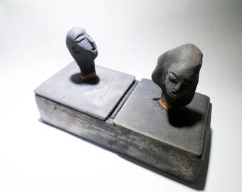 Box carved ceramics in Vallauris