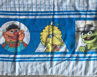 Vintage Sesame Street PIllowcase JP Stevens Big Bird Cookie Monster