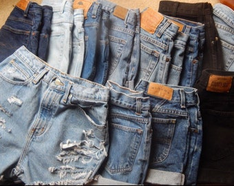 All SIZES Mystery High Waisted Denim Shorts / High waisted / All colors