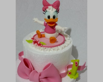 Cake topper Daisy baby sugar paste