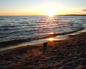 Sunset, landscape photograph