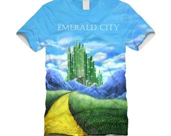 Emerald City sublimtion front print white T-shirt