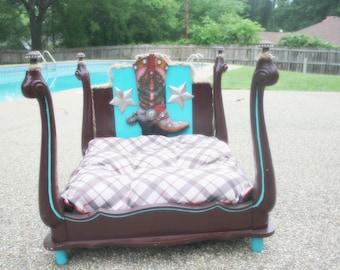 Custom Cowgirl Pet Bed.
