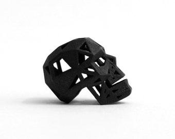 BLACK SKULL PENDANT - Black Stainless Steel