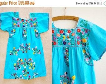 20% off the shop Vintage Oaxacan dress / Tullum dreaming dress / Mexican embroidered dress / bohemian dress / hippie / goddess