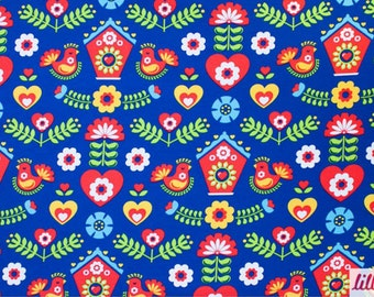 Fancyfolk Lillestoff Organic Knit German Folkart Fabric