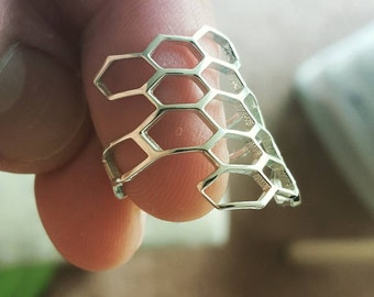 Honey comb Modern Ring