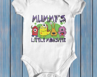 Mummy's Little Monster baby bodysuit | baby shower gift | cute baby clothes | newborn baby clothes | funny baby bodysuit | baby boy clothes