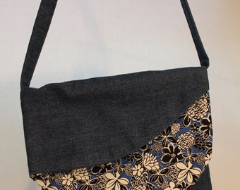 Denim and Flowers Purse Item #B21