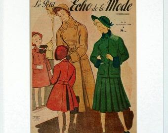 Le Petit Echo de la Mode fashion magazine cover 1948