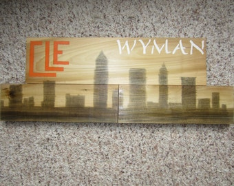 Personalized Cleveland Skyline Wall Decor