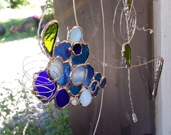 Window jewel blue cluster 15