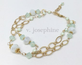 The Susannah Bracelet in Sea Foam