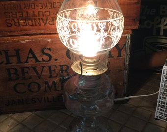 Antique Electric glass latern lamp