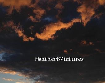 Salem MA Sunset. Beautiful Clouds. In Portrait.
