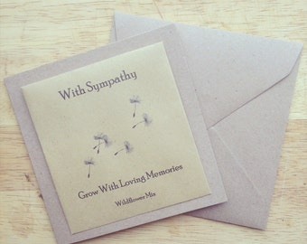 Wildflower seed with sympathy card