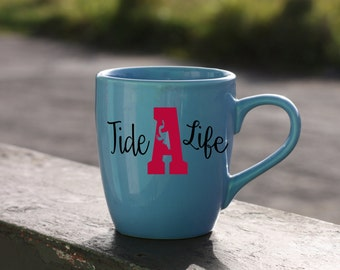 Tide Life-Univeristy Of Alabama Roll Tide-Vinyl Car Decal-Elephant-Coffee Mug-Canvas-Decor-College-