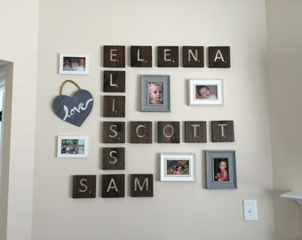 Wall Tiles Customized with Names