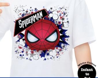 Spiderman Tsum Tsum T-shirt, Avenger Tsum Tsum Shirt, Spiderman Shirt