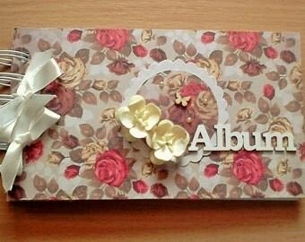 photoalbum mini with flowers
