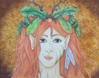 Fantasy painting: Lady autumn