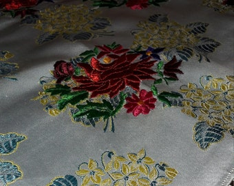 Beautiful antique brocade silk hand-embroidered shawls