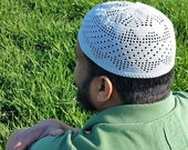 MADE TO ORDER Triangle Filet Kufi Topee Topi Prayer Cap Islamic Muslim
