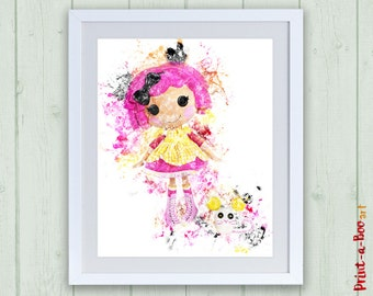 Lalaloopsy doll printable decor, Lalaloopsy print, instant download, Lalaloopsy doll nursery art, Lalaloopsy printable, Lalaloopsy poster