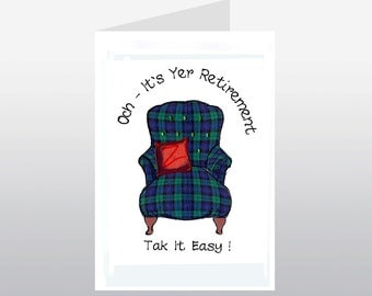 Scottish Retirement Card Armchair WWRE03
