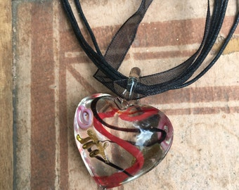 Funky Heart Necklace/Earring Set