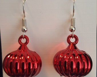 Red Onion shaped earrings