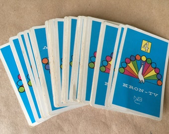 1960s Playing Cards KRON-TV NBC