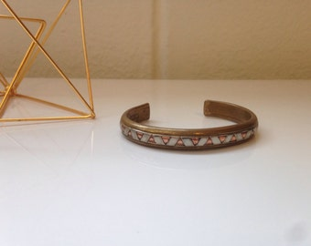 Vintage Copper & Brass Cuff Bracelet