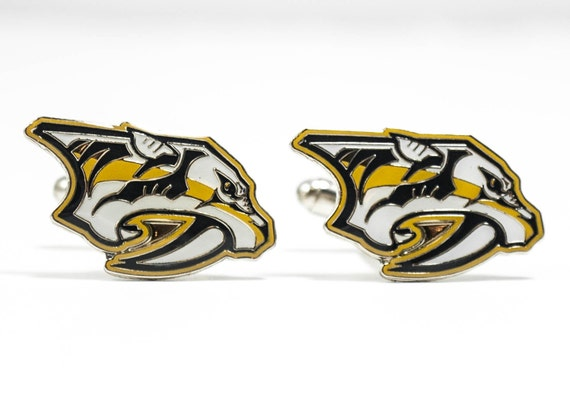 Nashville Predators Cuff Links -- FREE SHIPPING with USPS First Class Domestic Mail