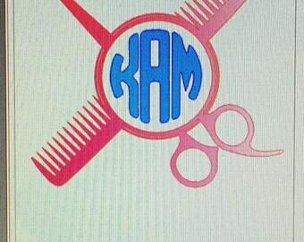 Vinyl Hairdresser Monogram