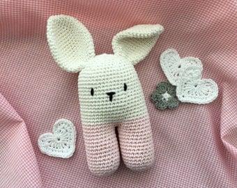 Bunny Baby Rattle, Crochet, Amigurumi