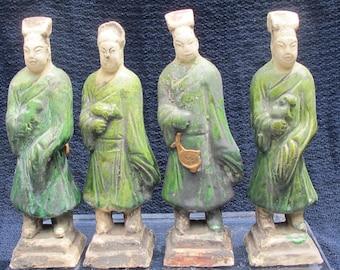 Vintage Clay Figures 4pcs