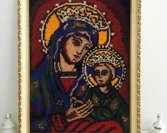 Vintage Tapestry Mother Maryand Jesus