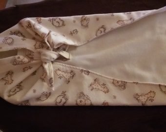 Baby Swaddler / Flannel / small 18 inch