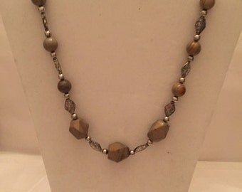 Silver 'n Stone  Beaded Necklace