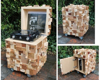 Pickup record player cabinet-furniture