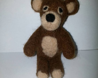 100% Organic toy. Felted toy, Art Marionette, Puppet, Stuffed Animal. Felt Toy. Natural . READY TO SHIP .