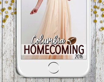 Homecoming Geofiler, Football Snapchat Geofilter, School Homecoming Filter, High School, College, Fall Geofilter, School Pride Filter